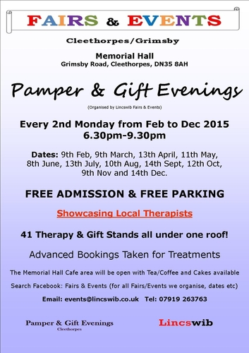 Pamper Amp Gift Evening Lincswib Fairs Amp Events Ref 2990
