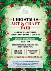 christmas craft fairs surrey