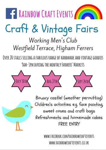 Higham Ferrers Farmers Market Craft Stalls