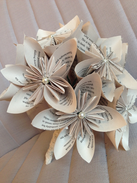 Paper Bridal Bouquet With Origami Flowers 7724 Stall Craft