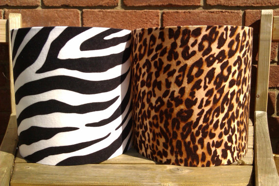 10 Quot X 10 Quot Handmade Leopard Zebra Suedette Drum Lampshade