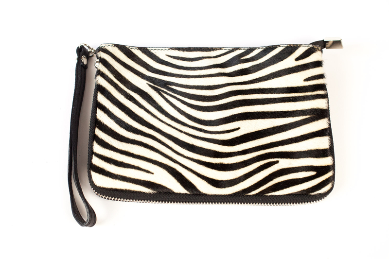Animal print clutch black white cow zebra 7197 stall craft collective