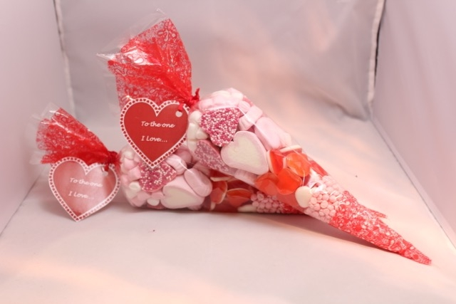 Valentines Day Sweet Cones - #6383 | Stall & Craft Collective