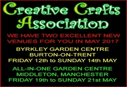 Two New Venues From Creative Crafts Association For Your Diaries In May