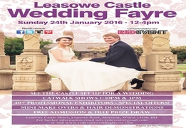 Free Entry To The Leasowe Castle Wedding Fayre, Moreton, Wirral, On Sunday 24th January 2016