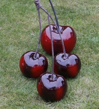 Contemporary Gloss Cherry Ornament Sculpture Available To Purchase Now!