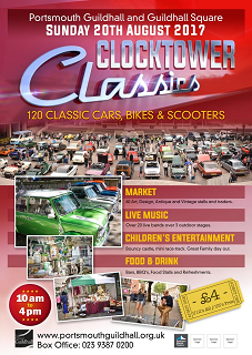 Clock Tower Classic Car Crafts & Collectables Show Portsmouth