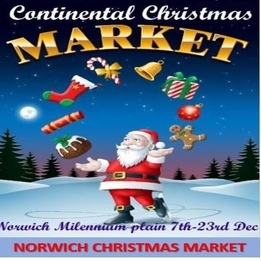 Norwich Christmas Market 7th Dec - 23rd Dec - Applications From Stallholders Now Open