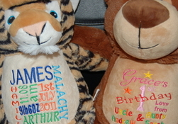 GBT Embroidery - Childrens & Babies Clothing, Soft Toys etc   - All Personalised Per Customer Requirements.
