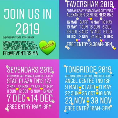 Eventissima Events Has Now Released It's 2019 Fair Dates, Based In Busy, Centrally-Located Venues Around Kent