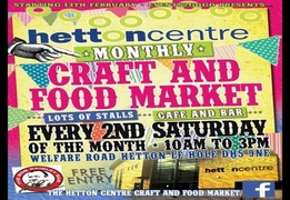 Community Craft And Food Market At The Hetton Centre In Hetton Le Hole, Tyne And Wear, DH5 9NE