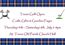 Royal Troon Golf Open 2016 - Troon Craft, Gifts & Goodies Fayre 14-16 July 2016