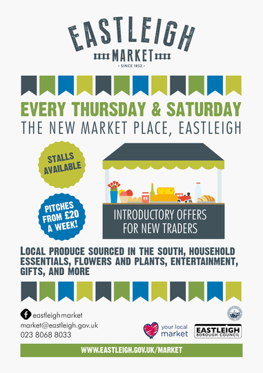 Eastleigh Market Place, Hampshire - Fabulous Introductory Offer For Stallholders