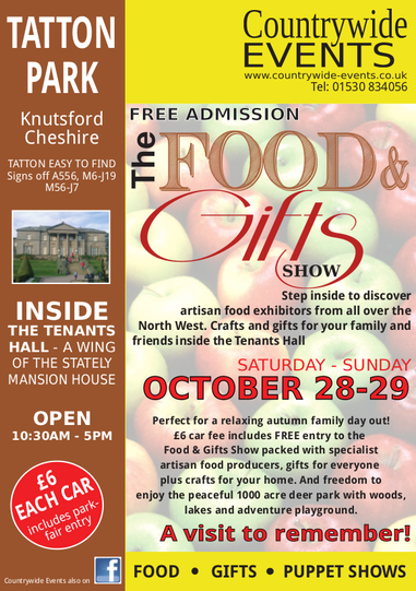 Food and Gifts Event on 28-29th October at Tatton Park Cheshire - Countrywide Events