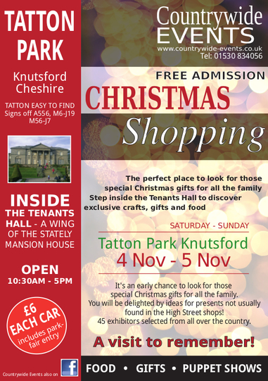 Christmas Shopping Fair at Tatton Park Cheshire on 4-5th November Organised By Countrywide Events