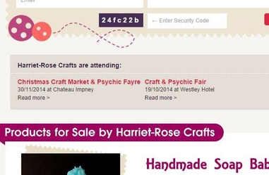 Stallholders : Don't Forget To Confirm Your Attendance At Listed Craft Fairs And All Other Listed Events