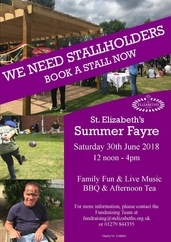 St Elizabeth's Summer Fayre 30/6/18 - Much Hadham Hertfordshire - Stallholders Required