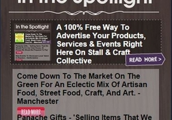 A 100% Free Way To Advertise Your Products, Services & Events Right Here On Stall & Craft Collective