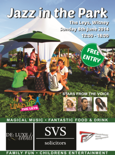 Ten Free Stalls - Witney Jazz  In The Park Oxfordshire 8th June 2014
