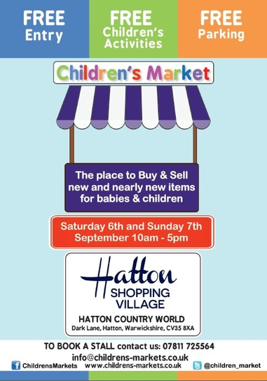 Children's Market At Hatton Country World - Warwickshire - Sept 6th & 7th
