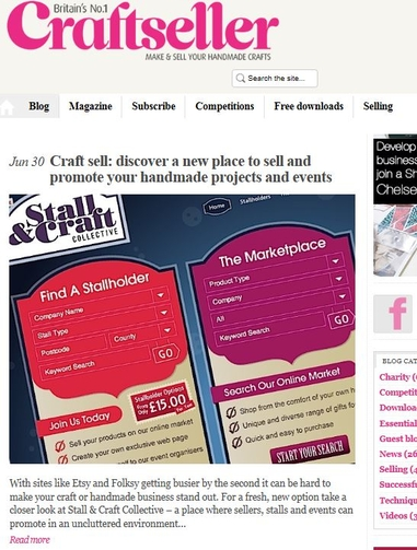Feature on Craftseller Magazine Website